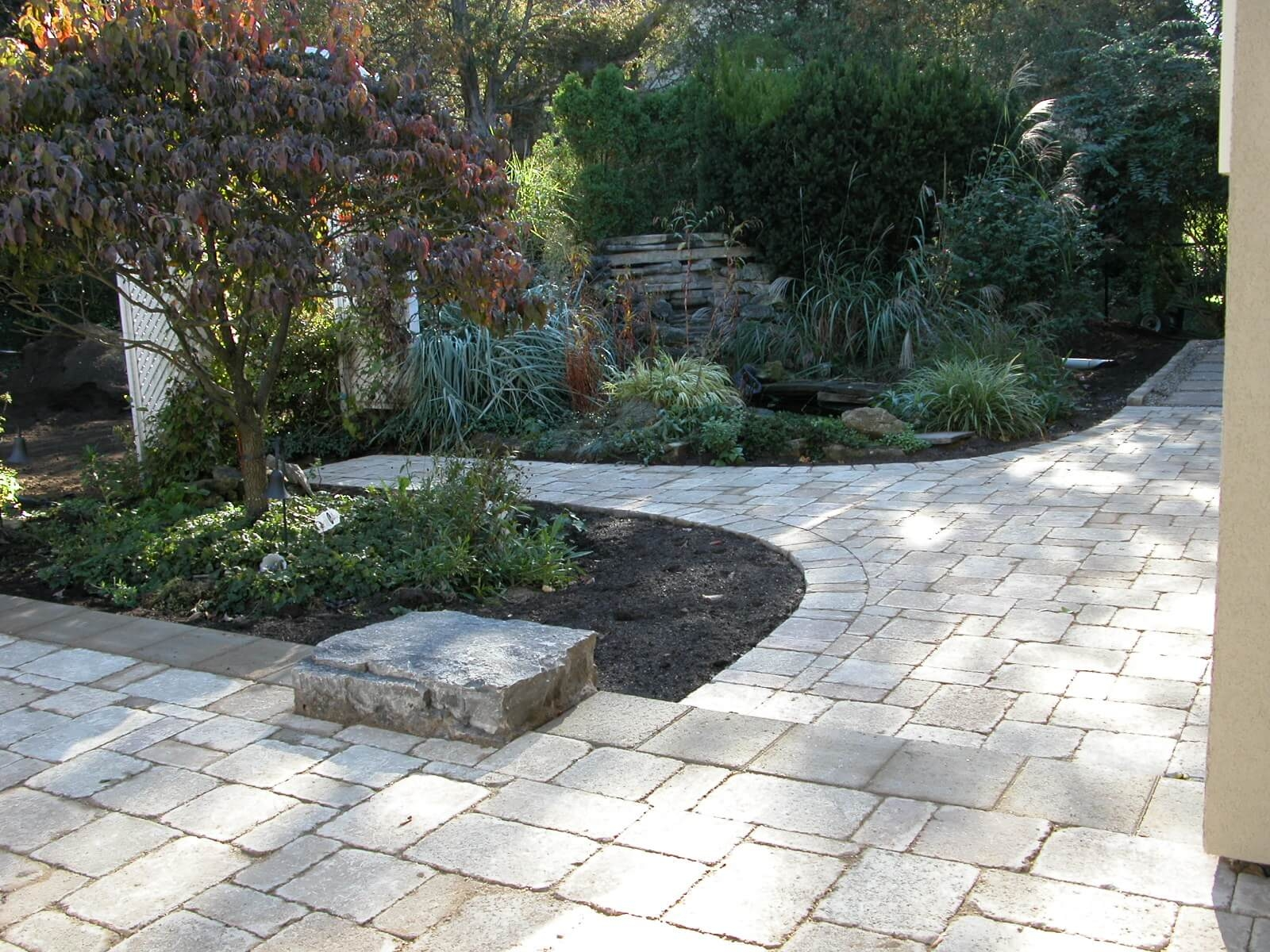 Backyard Patio and Path to the Arbour